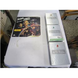 3 STARTREK DVD BOX SETS AND STARTREK LASER DISC