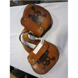 SMALL LEATHER SADDLE BAGS