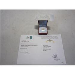 10KT YELLOW GOLD 3mm GENUINE 0.12CT ALEXANDRITE BEZEL RING W/ APPRAISAL $550