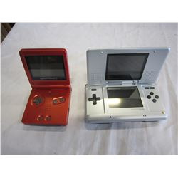 GAMEBOY ADVANCE SP AND NINTENDO DS CONSOLES