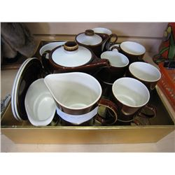 MID CENTURY POOL POTTERY COFFEE SET