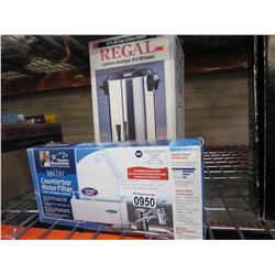 REGAL COFFEE PERCOLATER AND COUNTER TOP WATER FILTER