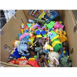 BOX OF HEMAN, MONSTERS INC, TMNT, AND OTHER FIGURES