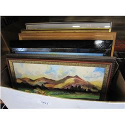 SMALL BOX OF PAINTINGS