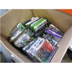 LARGE BOX OF ESTATE VIDEO GAMES AND CONTROLLERS