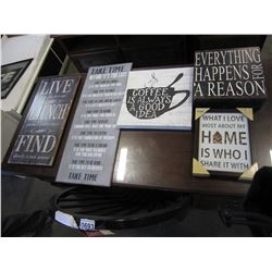LOT OF INSPIRATIONAL WALL HANGING SIGNS