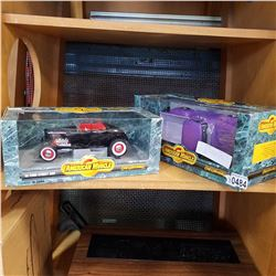 1932 FORD HOT ROD DIE CAST MODEL AND 1956 FORD 1/2 DIE CAST MODEL