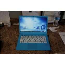 BLUE HP LAPTOP WITH CHARGER