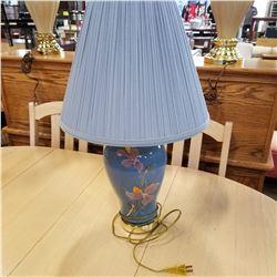 BLUE FLOWER TABLE LAMP