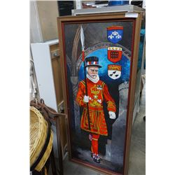 5FT GUARD PAINTING ON BOARD SIGNED PETER