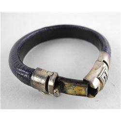 Estate Leather - Bangle Cuff Bracelet