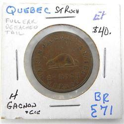 Quebec - Brass Token 'GESANQVEREIN' UNC BR589 (ER)