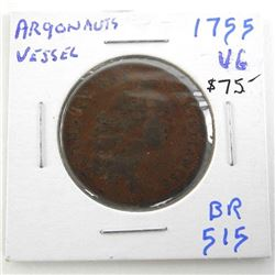 1755 Argonauts/Vessel Token (VG) BR515 (IE)