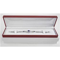 925 Silver Pear Cluster Bracelet with Swarovski El