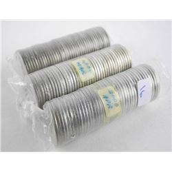 Lot (3) Mint Rolls Canada 25 Cent. Canada 125 (186