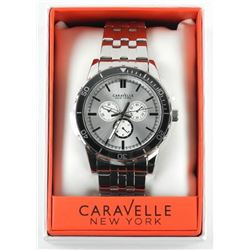 Gents Caravelle NY MSR - 150 Watch Metal Bracelet.