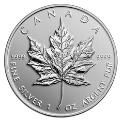 $5 2014 High Relief Special Edition Maple Leaf - Pure Silver Coin