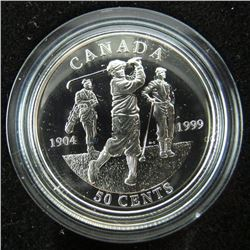 925 Sterling Silver 50 Cent Piece - GOLF