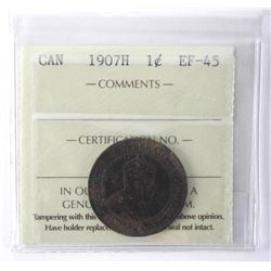 ICCS 1907H Canada One Cent. EF-55