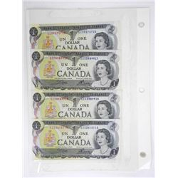 Lot (7) Canada Bank of Canada One and Two Notes