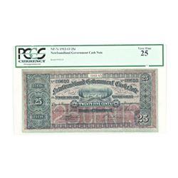 PCGS - Newfoundland Government Cash Note VF25