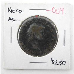 Ancient Roman Coin Ae As 'Nero' (64) Lugdunum