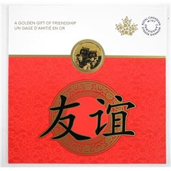 RCM Gold Plated Panda Coin Golden Gift. .9999 Fine