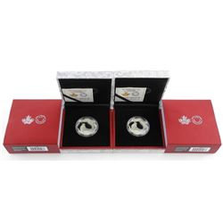 Lot (2) .9999 Fine Silver $15.00 Coins Lunar - 'Sh