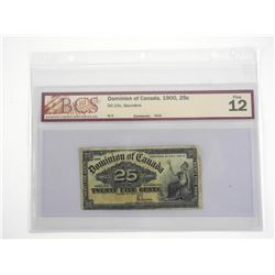 Dominion of Canada 1900 - Twenty Five Cent Note. F