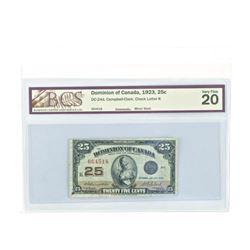Dominion of Canada 1923 - Twenty Five Cent. BCS. V