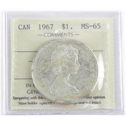 1967 Canada Silver Dollar MS65 (MXR)