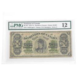 Dominion of Canada 1.00 - Fine 12 'PMG' (SGXR)