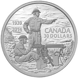 2014 $30 Declaration of the Second World War, 75th Anniversary - Pure Silver Coin