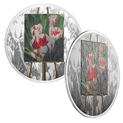 2017 $20 En Plein Air - (01) Springtime Gifts - Pure Silver Coin.