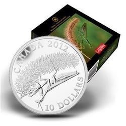 2012 $10 Canadian Geographic Photo Contest: Praying Mantis - Pure Silver Coin