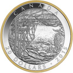 2015 - $20 Spring Ice Tom Thomson .9999 Fine Silver.