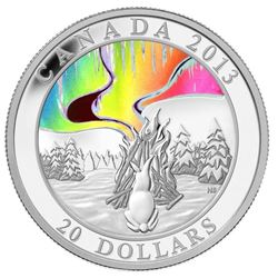 2013 $20 A Story of the Northern Lights: The Great Hare - Pure Silver Coin