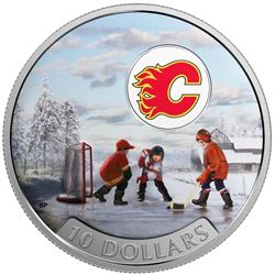 2017 $10 Passion to Play: Calgary Flames - Pure Silver Coin