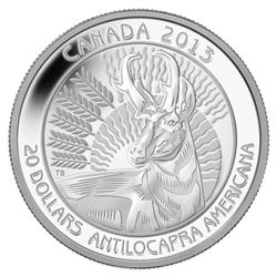 2013 $20 Pronghorn - Pure Silver Coin