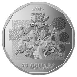 "2015 $10 Looney TunesTM: ""That's All Folks!"" - Pure Silver Coin"