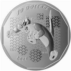 "2015 $10 Looney TunesTM: ""Suffering Succotash!"" - Pure Silver Coin"
