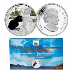 2014 - $20 Baby Puffin and Stamp .9999 Fine Silver.
