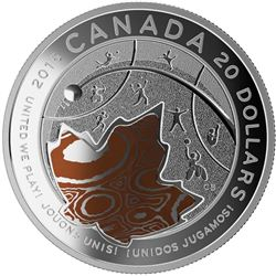 2015 $20: TORONTO 2015 Pan Am/ Parapan Am Games: United we Play- Pure Silver with Copper Coin