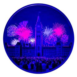 2017 $30 Celebrating Canada Day - 2 oz. Pure Silver Coin with Bonus Black Light