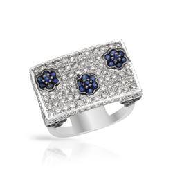 2.35 CTW Sapphire & Diamond Ring 14K White Gold - REF-97R3K