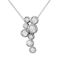 0.50 CTW Diamond Necklace 14K White Gold - REF-53M3F