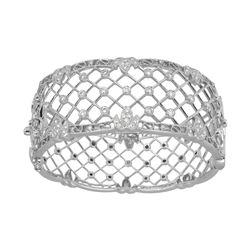 1.51 CTW Diamond Bangle 18K White Gold - REF-456Y3X