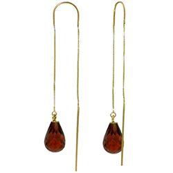 Genuine 4.5 ctw Garnet Earrings Jewelry 14KT Yellow Gold - REF-20Y4F