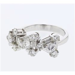 2.08 CTW Diamond Ring 18K White Gold - REF-239Y9X