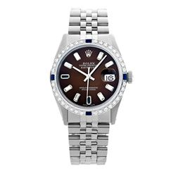 Rolex Pre-owned 36mm Mens Chocolate Brown Stainless Steel - REF-610W4Y